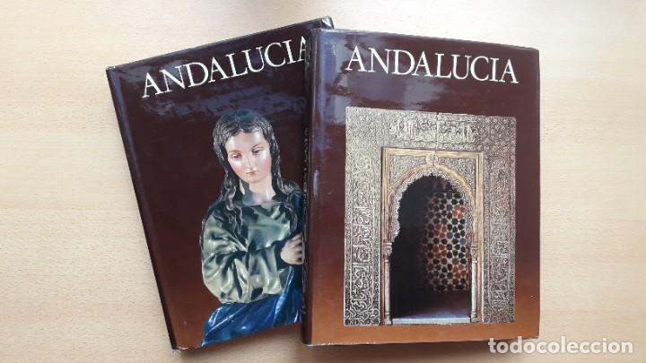 ANDALUCÍA, TIERRAS DE ESPAÑA, 2 TOMOS – 1ª EDICIÓN. FUNDACIÓN JUAN MARCH. (Libros de Segunda Mano - Bellas artes, ocio y coleccionismo - Otros)
