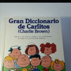 Libros de segunda mano: SNOOPY. GRAN DICCIONARIO DE CARLITOS (CHARLIE BROWN) 1990. Lote 207936163
