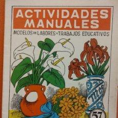 Libri di seconda mano: FLORES DE PAPEL. Nº 57. ACTIVIDADES MANUALES. EDITORIAL MIGUEL A SALVATELLA. Lote 207947573