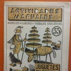 Libri di seconda mano: JUGUETES EN CORCHO CON ALAMBRE Y PAPEL. Nº 53. ACTIVIDADES MANUALES. EDITORIAL MIGUEL A SALVATELLA. Lote 207947621