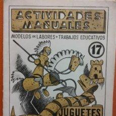 Libri di seconda mano: JUGUETES EN CORCHO CON ALAMBRE Y PAPEL. Nº 17. ACTIVIDADES MANUALES. EDITORIAL MIGUEL A SALVATELLA. Lote 207948158