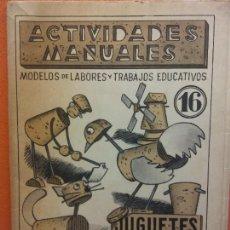 Libri di seconda mano: JUGUETES EN CORCHO CON ALAMBRE Y PAPEL. Nº 16. ACTIVIDADES MANUALES. EDITORIAL MIGUEL A SALVATELLA. Lote 207948172
