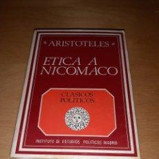 Livros em segunda mão: ARISTOTELES ETICA A NICOMACO. CLASICOS POLÍTICOS. EDICION BILINGÜE. Lote 207976436