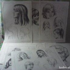 Libros de segunda mano: LOTE 11 LAMINAS EMILIO FREIXAS SERIE 43 ROSTROS FEMENINOS. Lote 207984270