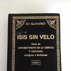 Libri di seconda mano: ISIS SIN VELO. MADAME BLAVATSKY. TOMO I. Lote 208063576