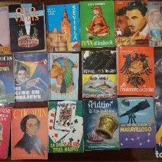 Libros de segunda mano: ENCICLOPEDÍA PULGA ,COLECCIÓN DEL 1 AL 39 ,CON MUEBLE ORIGINAL DE ÉPOCA. Lote 208104468