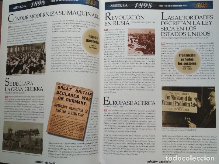 Libros de segunda mano: LIBRO 100 ANIVERSARIO ARETEX, S.A MARCAS CALCETINES CÓNDOR MOLFORTS (1898-1998) - Foto 4 - 208113267