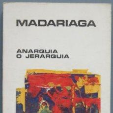 Livros em segunda mão: ANARQUIA O JERARQUIA. SALVADOR DE MADARIAGA. Lote 208173990