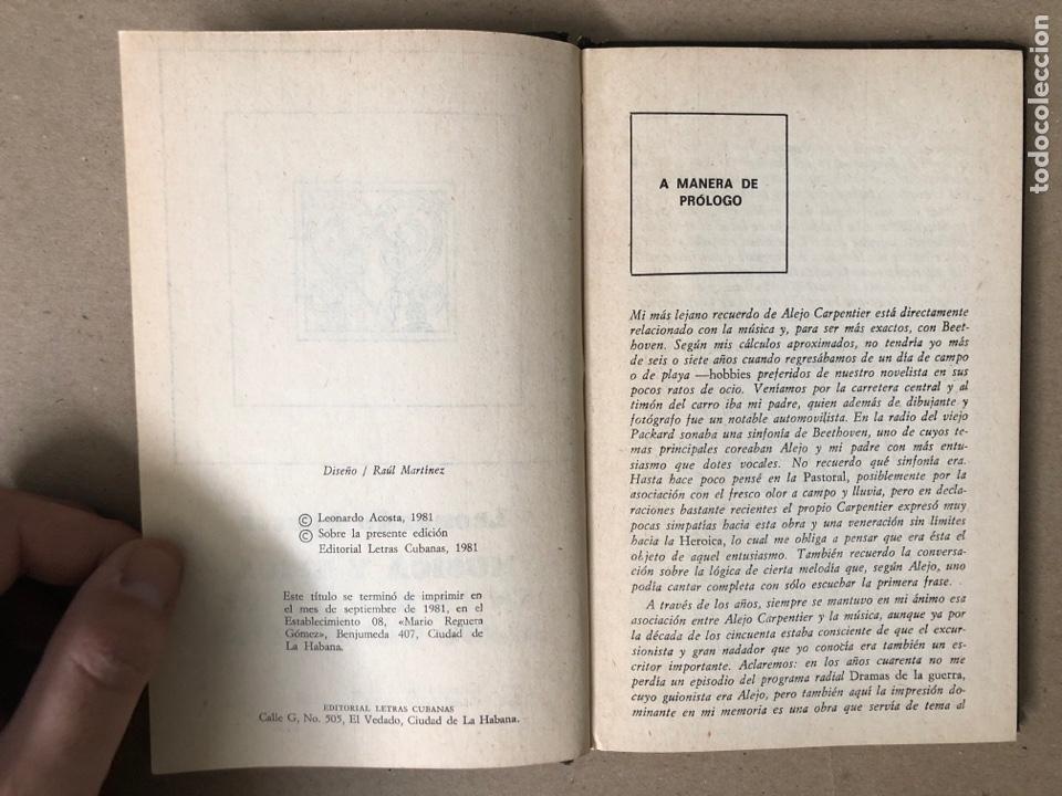 Libros de segunda mano: MÚSICA Y ÉPICA EN LA NOVELA DE ALEJO CARPENTIER. LEONARDO ACOSTA. EDITORIAL LETRAS CUBANAS 1981. - Foto 3 - 208272758