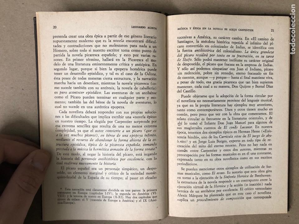 Libros de segunda mano: MÚSICA Y ÉPICA EN LA NOVELA DE ALEJO CARPENTIER. LEONARDO ACOSTA. EDITORIAL LETRAS CUBANAS 1981. - Foto 4 - 208272758
