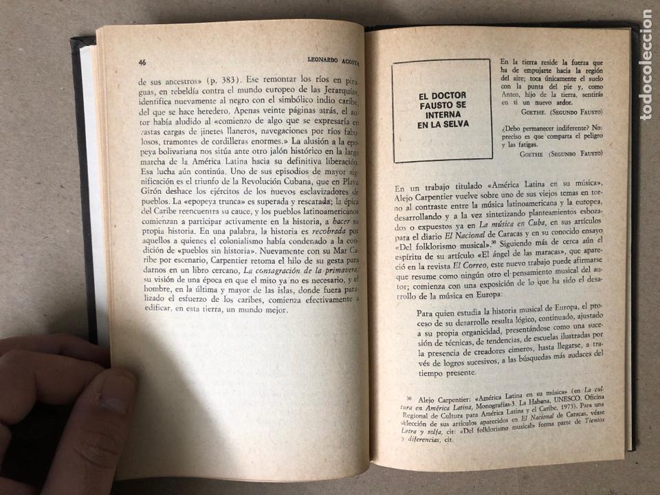 Libros de segunda mano: MÚSICA Y ÉPICA EN LA NOVELA DE ALEJO CARPENTIER. LEONARDO ACOSTA. EDITORIAL LETRAS CUBANAS 1981. - Foto 5 - 208272758