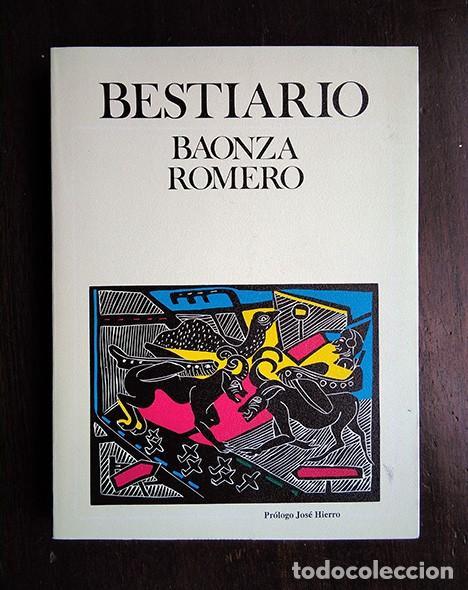 BESTIARIO · BAONZA, ROMERO. PRÓLOGO DE JOSÉ HIERRO. FIRMADO POR LOS AUTORES (Libros de Segunda Mano - Bellas artes, ocio y coleccionismo - Otros)
