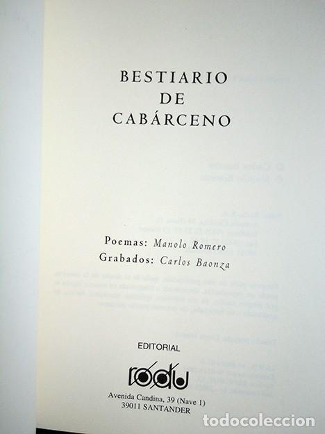 Libros de segunda mano: Bestiario de Cabárceno · Baonza, Romero. Firmado por los autores - Foto 5 - 208289812