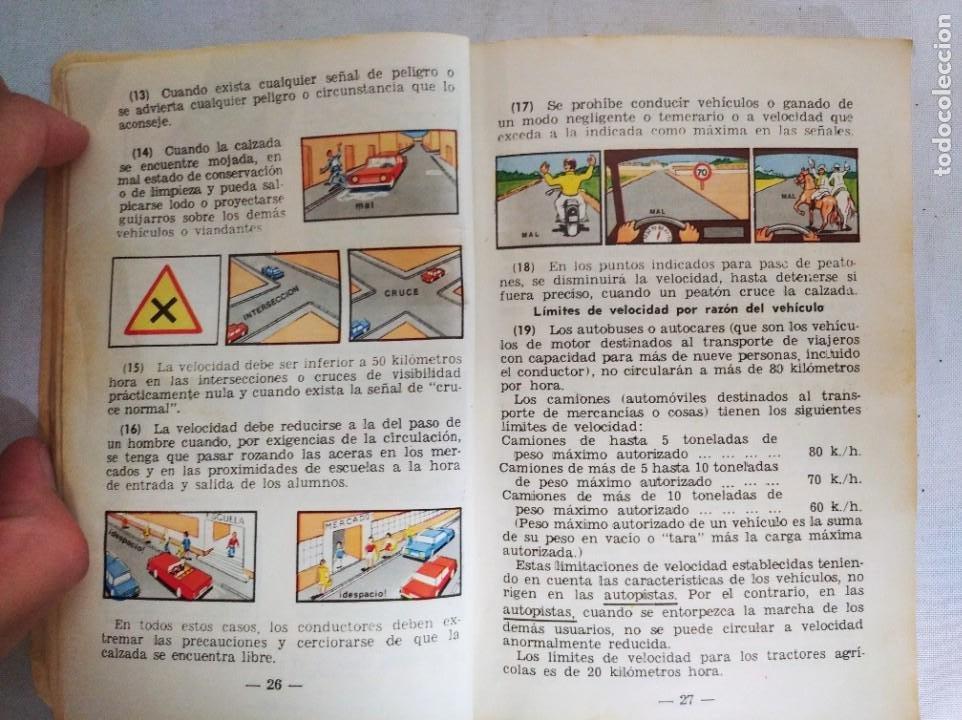 Libros de segunda mano: Antiguo libro de la autoescuela gaditana. - Foto 6 - 208323032