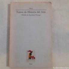 Libros de segunda mano: PLINIO. TEXTOS DE HISTORIA DEL ARTE. VISOR. 1988. 204 PGS. 22 X 14 CM. TAPA CARTULINA CON SOLAPA.. Lote 208354211