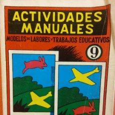 Livres d'occasion: ACTIVIDADES MANUALES. Nº 9. RECORTADO Y OBSERVACIÓN. EDITORIAL MIGUEL A SALVATELLA. Lote 208380470