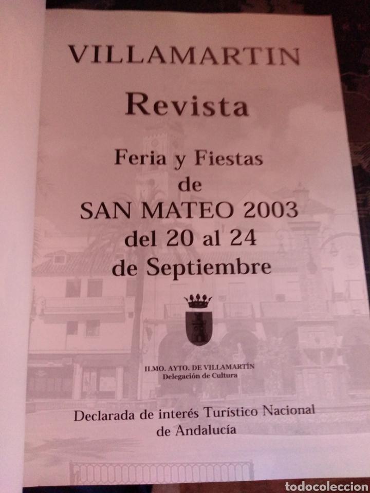 Libros de segunda mano: libro Feria de ganado y fiestas de San Mateo 2003 villamartín Cadiz Andalucia - Foto 2 - 208401295