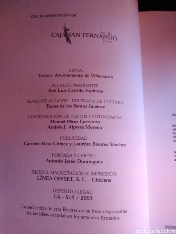 Libros de segunda mano: libro Feria de ganado y fiestas de San Mateo 2003 villamartín Cadiz Andalucia - Foto 3 - 208401295