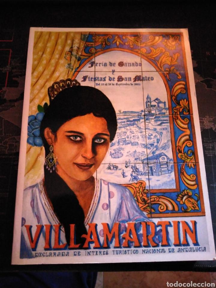 LIBRO FERIA DE GANADO Y FIESTAS DE SAN MATEO 2003 VILLAMARTÍN CADIZ ANDALUCIA (Libros de Segunda Mano - Historia - Otros)
