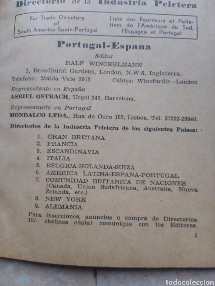 Libros de segunda mano: Directorio Industria Peletera WINCKELMANN 1948 - 49 - 51 Argentina América Latina España Portugal - Foto 2 - 208448406