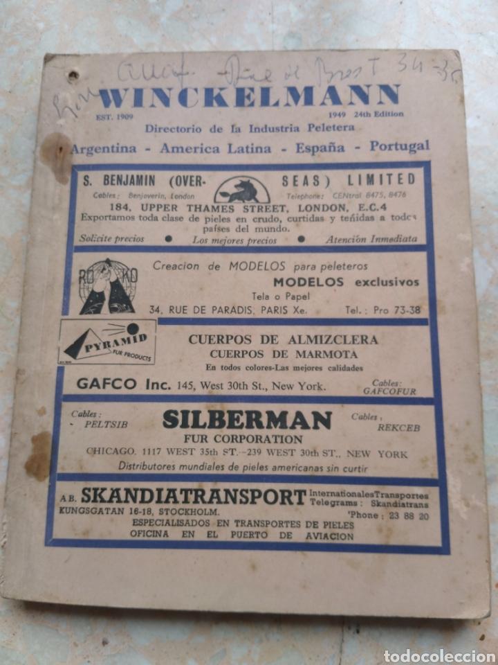 Libros de segunda mano: Directorio Industria Peletera WINCKELMANN 1948 - 49 - 51 Argentina América Latina España Portugal - Foto 8 - 208448406