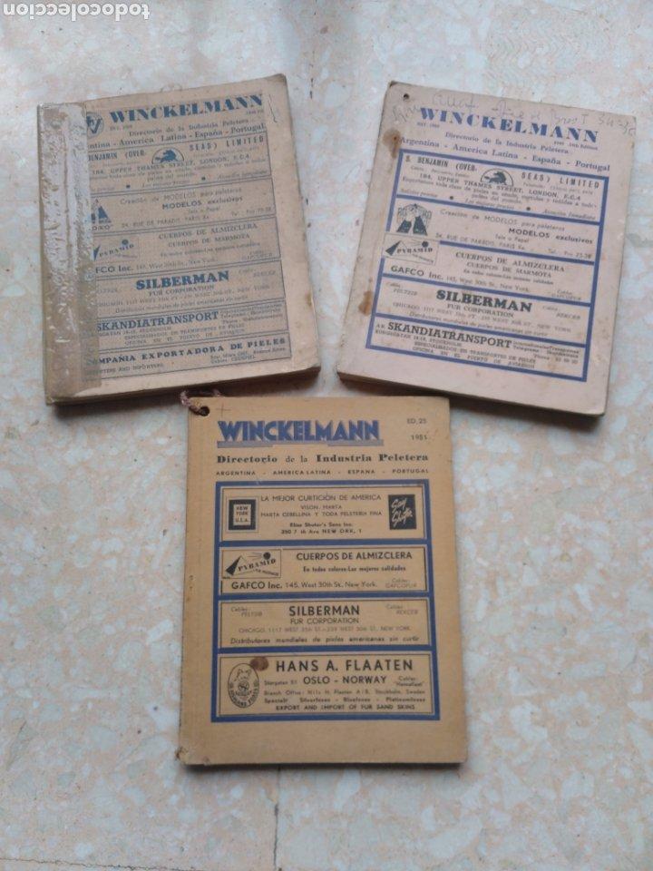 DIRECTORIO INDUSTRIA PELETERA WINCKELMANN 1948 - 49 - 51 ARGENTINA AMÉRICA LATINA ESPAÑA PORTUGAL (Libros de Segunda Mano - Ciencias, Manuales y Oficios - Otros)