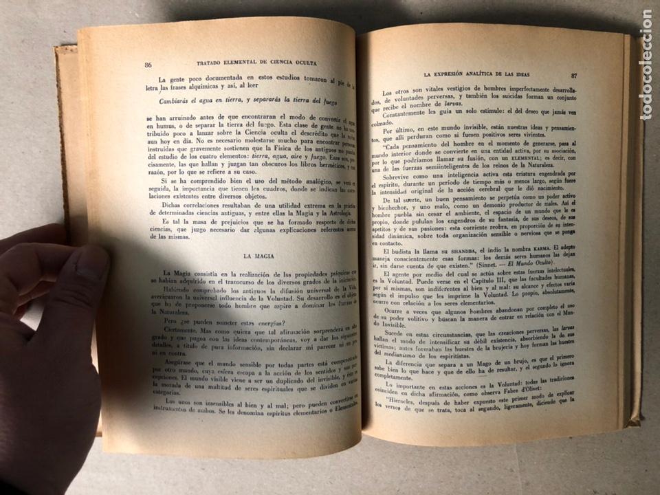 Libros de segunda mano: TRATADO ELEMENTAL DE CIENCIAS OCULTAS. PAPUS (Dr. G. ENCAUSSE). EDICIONES NOVEDADES DE LIBROS. - Foto 5 - 208468582