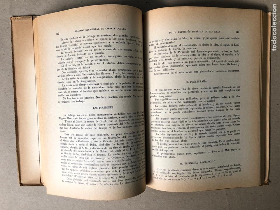 Libros de segunda mano: TRATADO ELEMENTAL DE CIENCIAS OCULTAS. PAPUS (Dr. G. ENCAUSSE). EDICIONES NOVEDADES DE LIBROS. - Foto 6 - 208468582