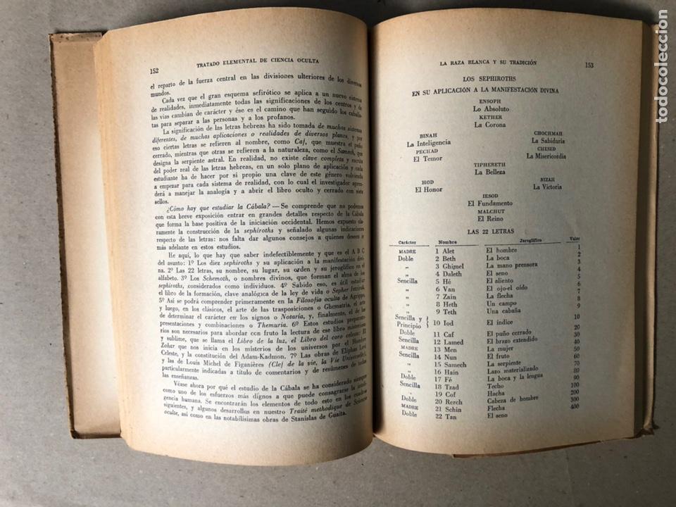 Libros de segunda mano: TRATADO ELEMENTAL DE CIENCIAS OCULTAS. PAPUS (Dr. G. ENCAUSSE). EDICIONES NOVEDADES DE LIBROS. - Foto 7 - 208468582