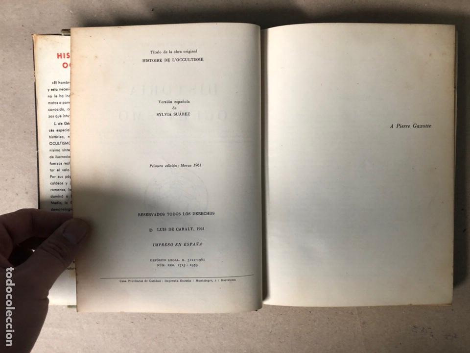 Libros de segunda mano: HISTORIA DEL OCULTISMO. L. de GERIN-RICARD. LUIS DE CARALT EDITOR 1961 (1ªEDICIÓN). - Foto 4 - 208472051