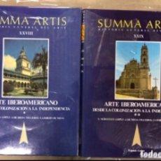 Libros de segunda mano: SUMMA ARTIS (HISTORIA GENERAL DEL ARTE). TOMOS XXVIII Y XXIX. ARTE IBEROAMERICANO. Lote 208479981