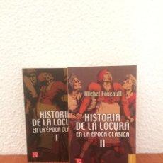 Libri di seconda mano: HISTORIA DE LA LOCURA EN LA ÉPOCA CLÁSICA (2 VOLÚMENES) - MICHEL FOUCAULT - FCE. Lote 208664727