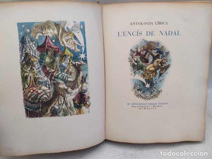 ANTOLOGIA LÍRICA. ENCIS DE NADAL. BARCELONA 1947. GRABADS DE ALFREDO OPISSO. (Libros de Segunda Mano - Bellas artes, ocio y coleccionismo - Otros)