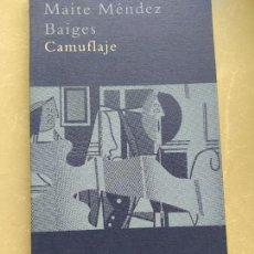Libros de segunda mano: CAMUFLAJE. MAITE MENDEZ BAIGES. ED. SIRUELA. 2007 124PP. Lote 218538656