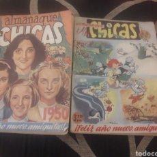 Libros de segunda mano: ALMANAQUES DE 1949 Y 1950 DE MIS CHICAS CON RECORTABLES. Lote 208748196