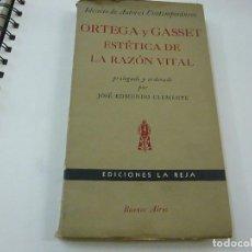 Libros de segunda mano: ORTEGA Y GASSET ESTETICA DE LA RAZON VITAL, IDEARIO DE AUTORES CONTEMPORANEAS-AÑO 1956 -N 8. Lote 208826731