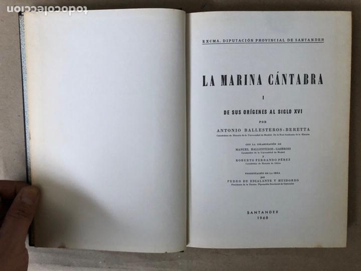 Libros de segunda mano: LA MARINA CÁNTABRA. VV.AA. EDITA: DIPUTACIÓN SANTANDER 1968 (1ªEDICIÓN). 3 TOMOS. - Foto 3 - 208870228