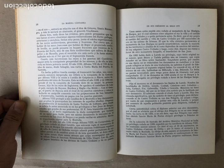 Libros de segunda mano: LA MARINA CÁNTABRA. VV.AA. EDITA: DIPUTACIÓN SANTANDER 1968 (1ªEDICIÓN). 3 TOMOS. - Foto 5 - 208870228