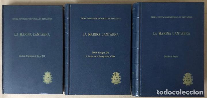 LA MARINA CÁNTABRA. VV.AA. EDITA: DIPUTACIÓN SANTANDER 1968 (1ªEDICIÓN). 3 TOMOS. (Libros de Segunda Mano - Historia - Otros)