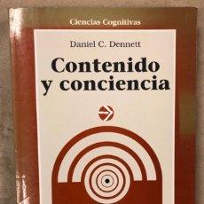 Libros de segunda mano: CONTENIDO Y CONCIENCIA. DANIEL C. DENNETT: GEDISA EDITORIAL 1996 (1ªEDICIÓN).. Lote 209028436