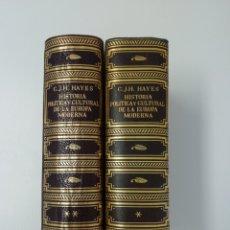 Libros de segunda mano: 1946 - 1ª ED. - HISTORIA POLÍTICA Y CULTURAL DE LA EUROPA MODERNA - 2 TOMOS CON LÁMINAS Y MAPAS. Lote 209117022