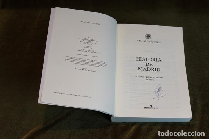 Libros de segunda mano: Historia de Madrid,Antonio Fernández García,Editorial Complutense,1993. - Foto 2 - 209170211