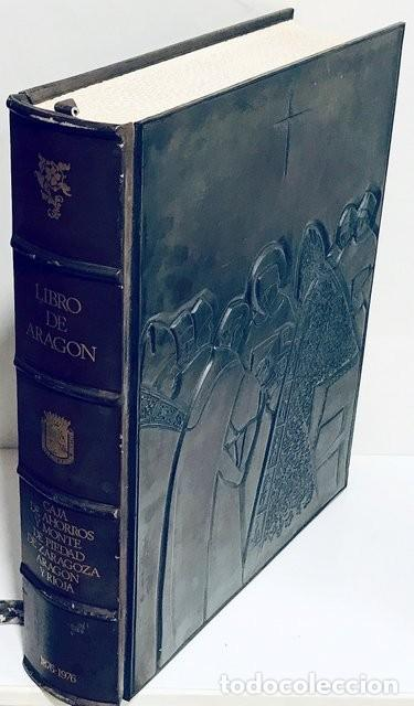 Libros de segunda mano: Libro de Aragón. Caja de Ahorros de Zaragoza Centenario 1876-1976. Cubierta de Pablo Serrano - Foto 2 - 209185578