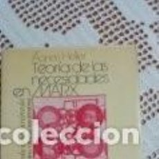Libros de segunda mano: TEORÍA DE LAS NECESIDADES EN MARX AGNES HELLER 1978. Lote 209330080