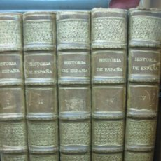 Libros de segunda mano: HISTORIA DE ESPAÑA. 5 TOMOS. INSTITUTO GALLACH. ENCUADERNADOS CON NERVIOS Y DORADOS.. Lote 209579115
