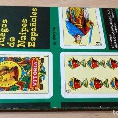 Libros de segunda mano: JUEGOS DE NAIPES ESPAÑOLES - HERACLIO FOURNIER U-203 OTROS. Lote 209772725
