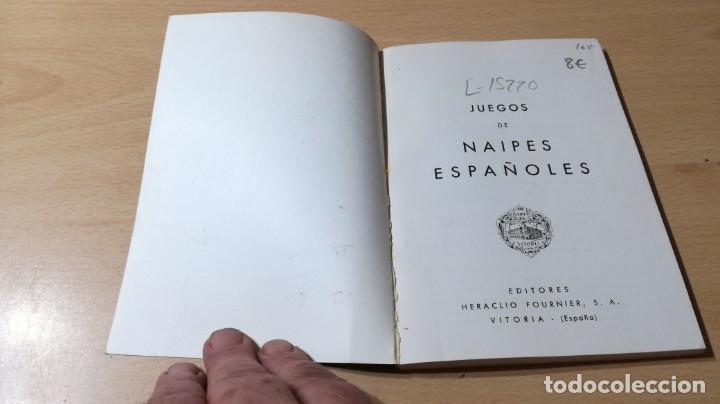 Libros de segunda mano: JUEGOS DE NAIPES ESPAÑOLES - HERACLIO FOURNIER U-203 OTROS - Foto 3 - 209772725