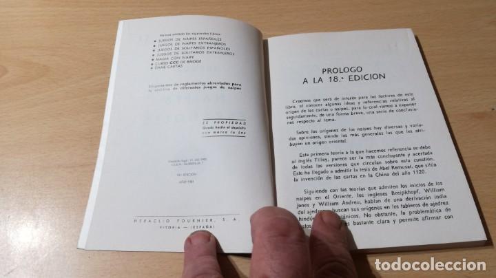 Libros de segunda mano: JUEGOS DE NAIPES ESPAÑOLES - HERACLIO FOURNIER U-203 OTROS - Foto 4 - 209772725