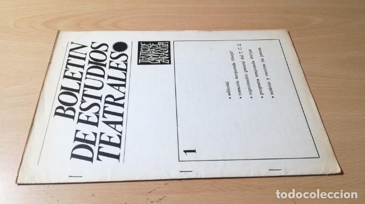 BOLETIN ESTUDIOS TEATRALES - 1 - 1967 - TEATRO CAMARA DE ZARAGOZA U-401 TEATRO (Libros de Segunda Mano - Bellas artes, ocio y coleccionismo - Otros)