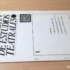 Libros de segunda mano: BOLETIN ESTUDIOS TEATRALES - 1 - 1967 - TEATRO CAMARA DE ZARAGOZA U-401 TEATRO. Lote 209775007